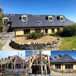 The CLAS Building - an Oak framed & straw bale visitor centre. Using local & natural materials to create a healthy indoor space.