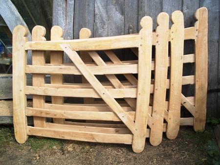 Double oak gates - field gates