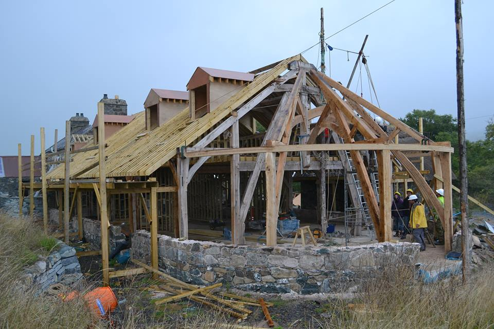 End gable at the new visitor centre