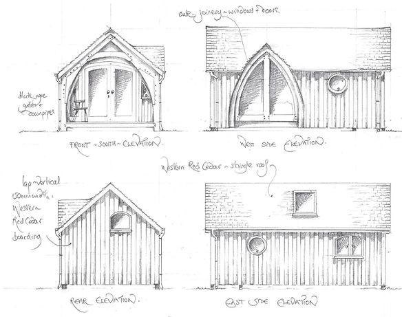 The Oak Cruck Cabin/Pod design