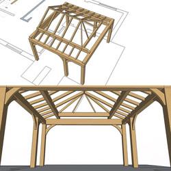 Orangery Oak Frame Design