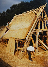 thatching workshop Ty croes bach  1997 (