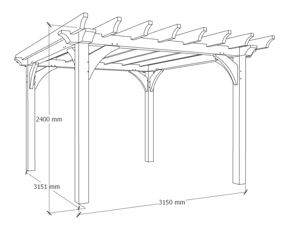 The small garden pergola design