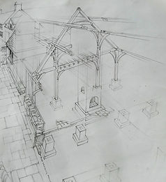 Oak famed extension plans for a client in Gwynedd, North Wales, Wales