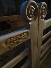 Carved bespoke oak gates