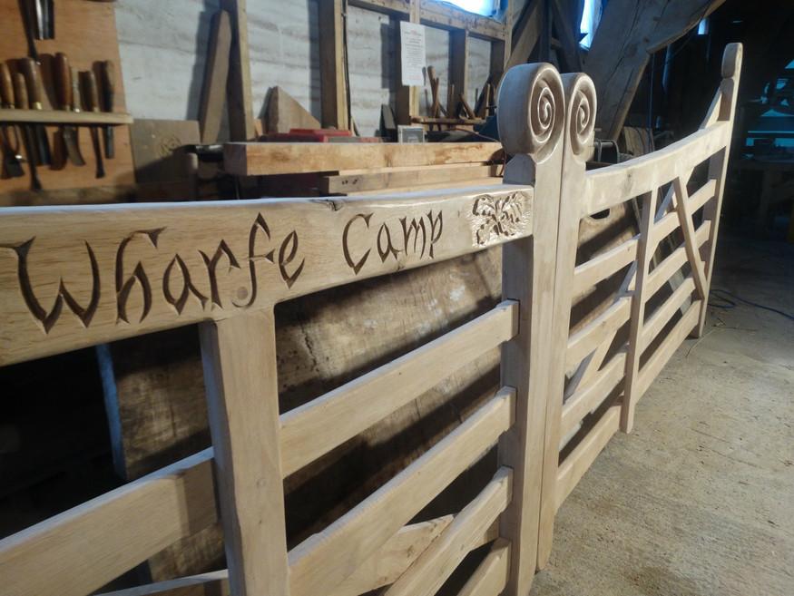 Large campsite gates