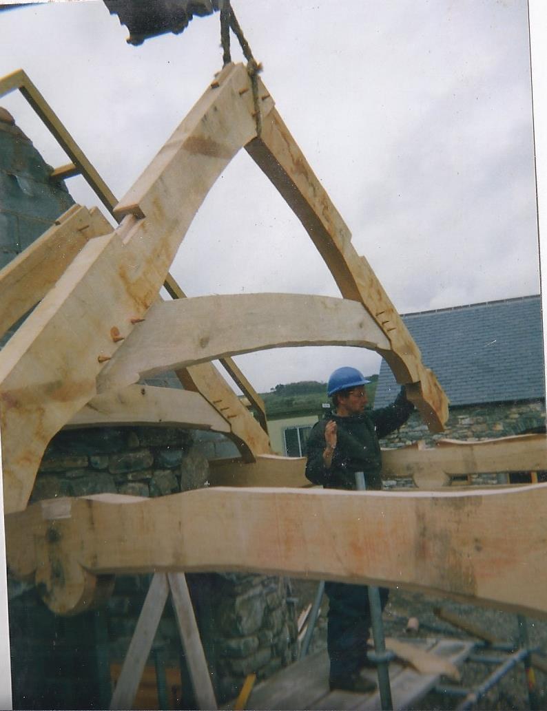 Oak truss for a client in Tywyn
