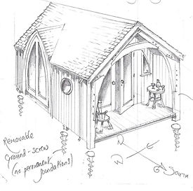 Cruck framed Cabin/Pod Design