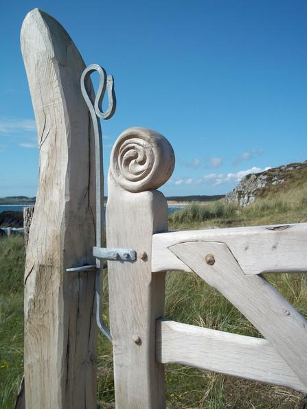 Bespoke oak gates with oak posts