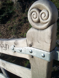 Carved gates heads