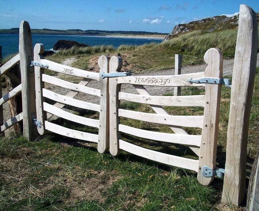 Bespoke welsh oak double gates