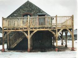 Oak framed balcony