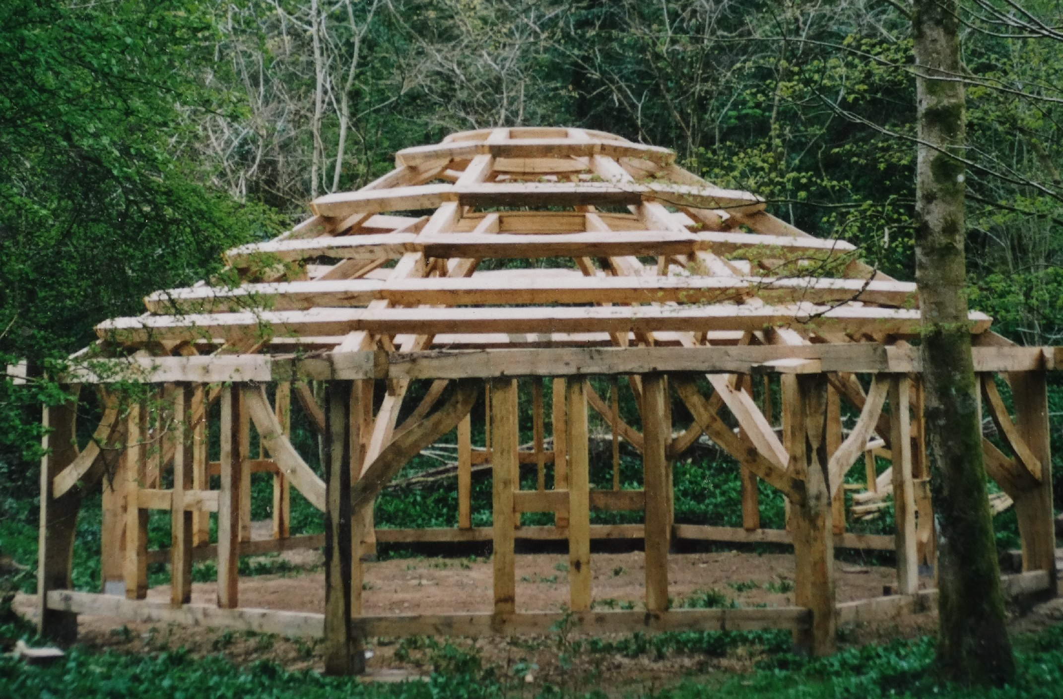 Oak framed structure - Bishops Wood Swan