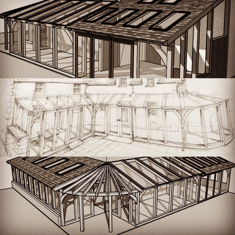 Oak Frame Conservatory Design