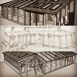 Oak Frame Conservatory designs made for clients in Gwynedd