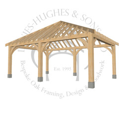 Oak framed garden gazebo design