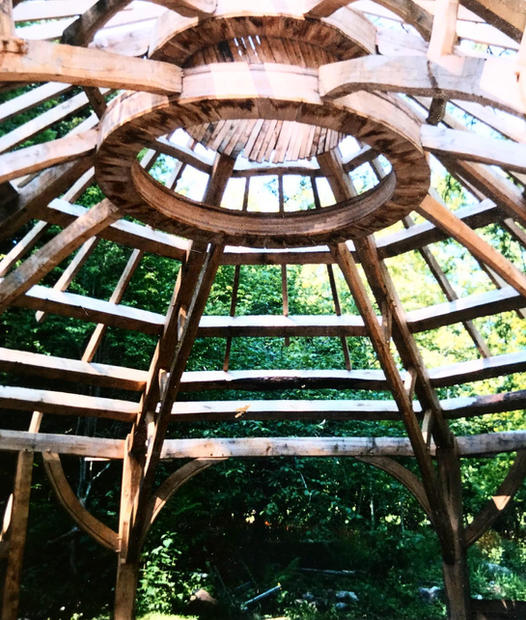 The Oak framed structure of a community woodland hub & Forrest school meeting house in Bishops wood, Swansea.  We oversaw the project from woodland to completion...Oak was selected from the nearby Gelli Hir nature reserve & milled on site.  Brilliant project to be involved in & a space that has become a real hub for local groups & families.