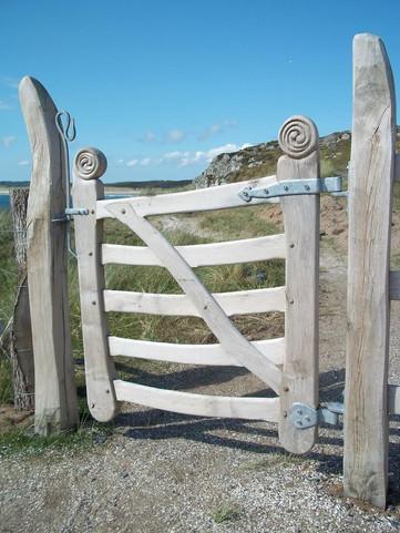 Bespoke welsh oak gate