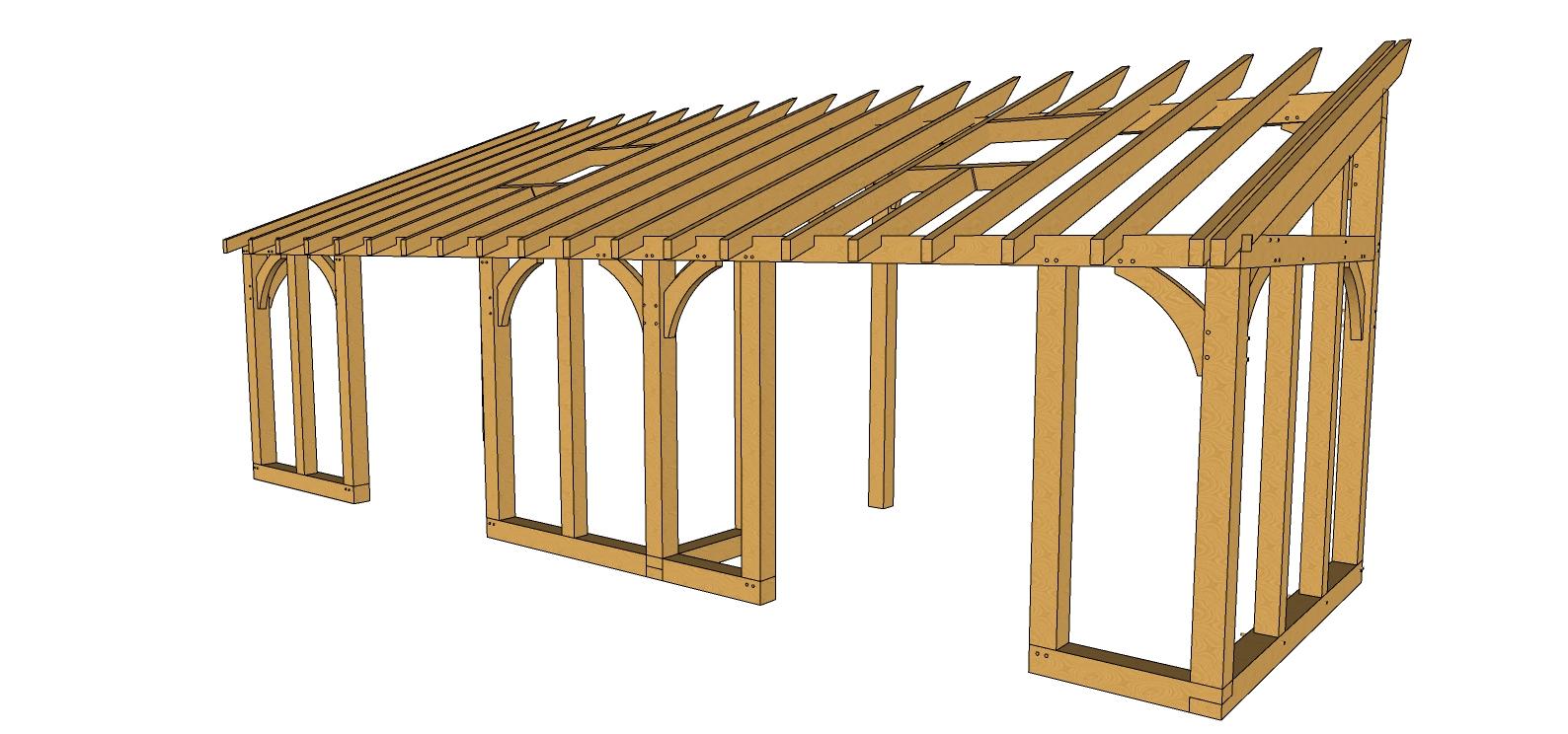 Bespoke lean to oak conservatory design