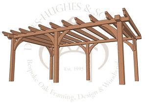 Oak pergolas made by Davies-Hughes and S