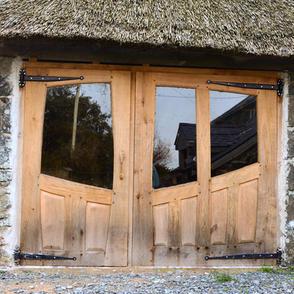 Bespoke Oak Doors Felin Uchaf Craft shop - finely crafted from Snowdonia Oak