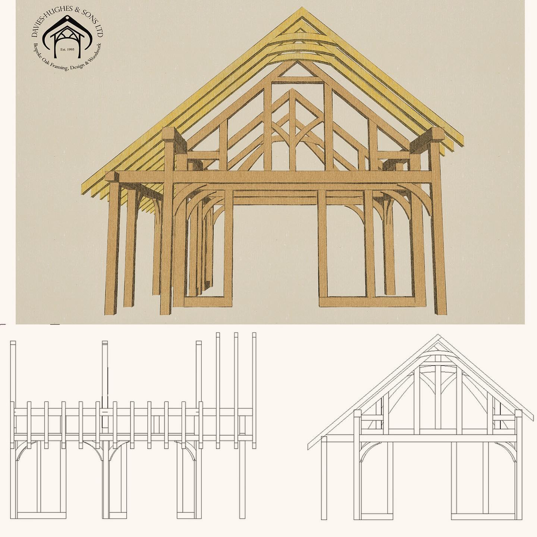 Oak Framed Extension Design
