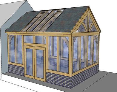 Oak framed garden room conservatory exte