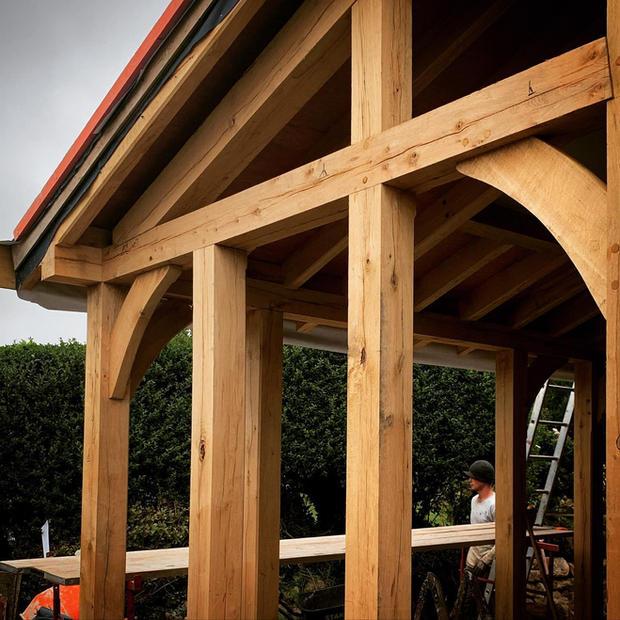 A lovely bespoke Oak conservatory frame