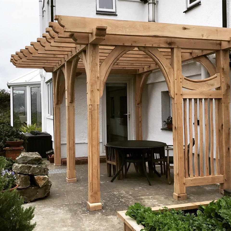 Oak framed pergola