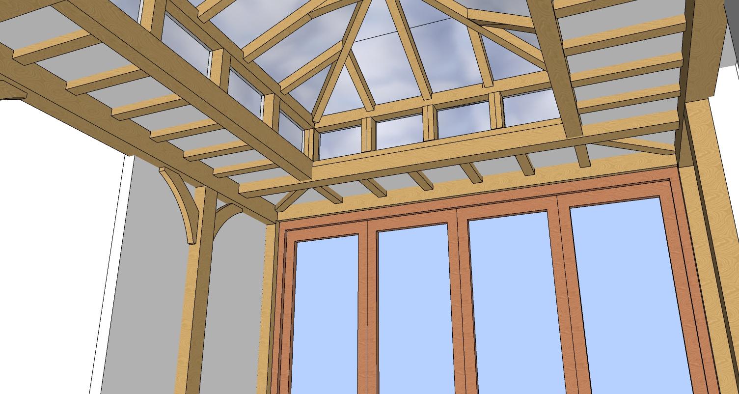 Oak orangery design