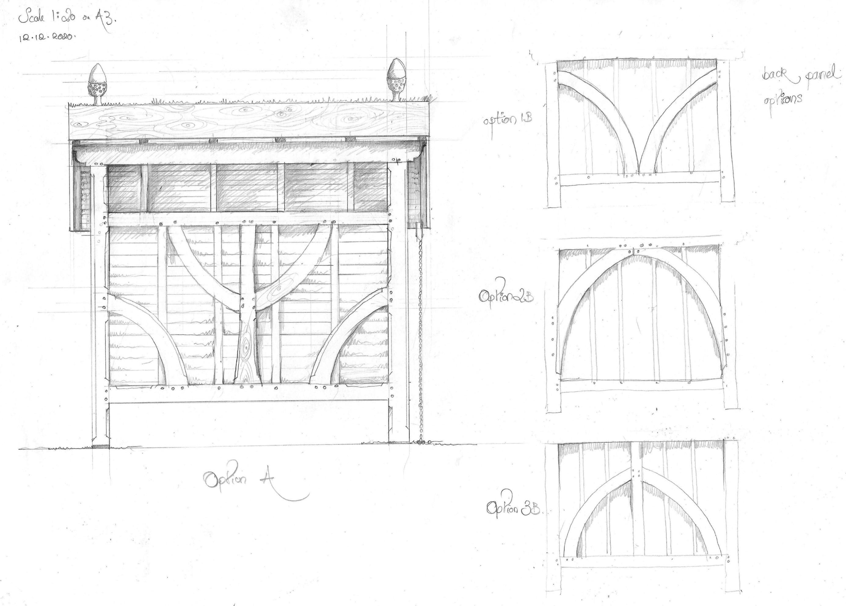 Oak framed bike shelter
