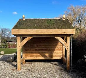 Oak Frame Bike shed