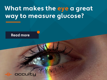 What makes the EYE a great way to measure blood glucose?