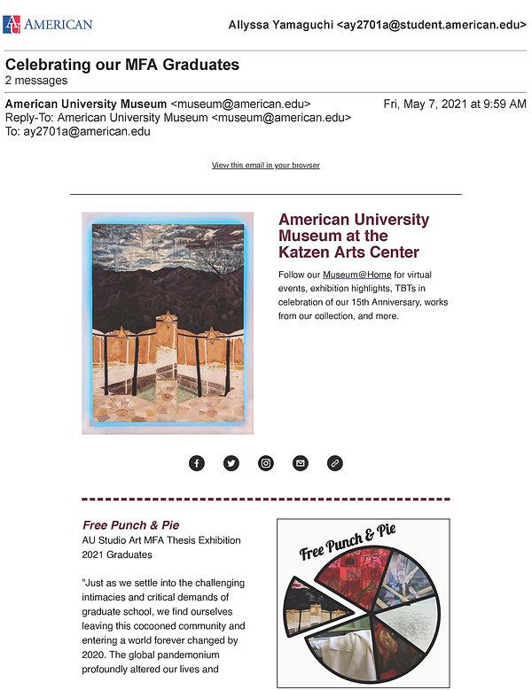 American University Mail -2021 Celebrati