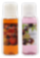 Thai body wash, daily polisher, body lotion, hand cream in scents of Pomegranate, Passion Fruit, Lychee, and Cantaloupe