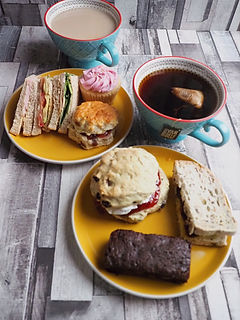 Afternoon Tea Delivery Delivered near me Peckham Cupcakes Scones Brownies Tea Dulwich