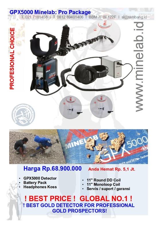 Detektor Emas GPX5000 Minelab
