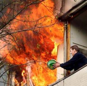 Es brennt  - Was tun ?