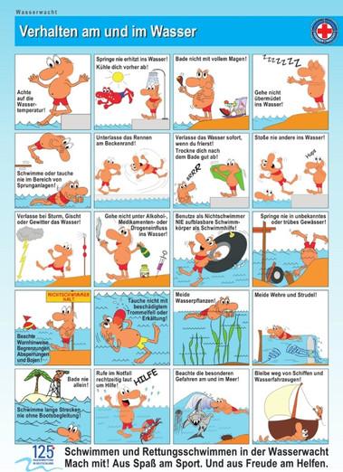 Verhalten im/am Wasser