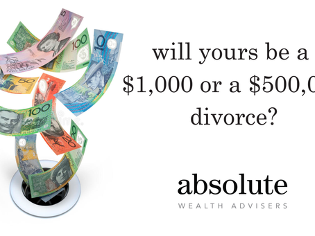 Will yours be a $1,000 divorce or a $500,000 divorce?