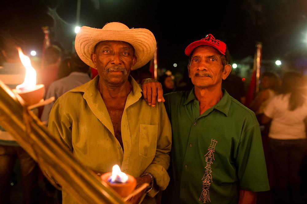 Seu Benedito (Tito) e Mizael. Foto: Luzo Reis