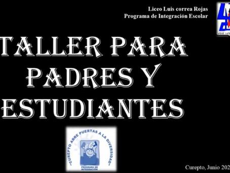 TALLER PARA APODERADOS Y ESTUDIANTES