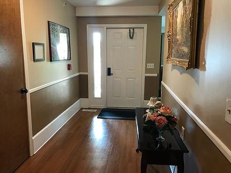 Front Doorand Entry Hallway