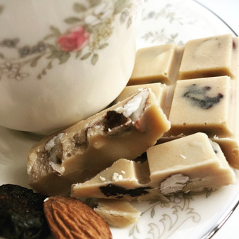 White Chocolate with Cherries and Almonds