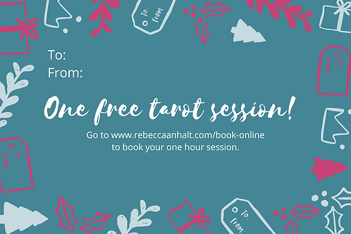 Tarot Session Holiday Gift Certificate