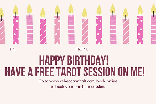 Tarot Session Happy Birthday Gift Certificate