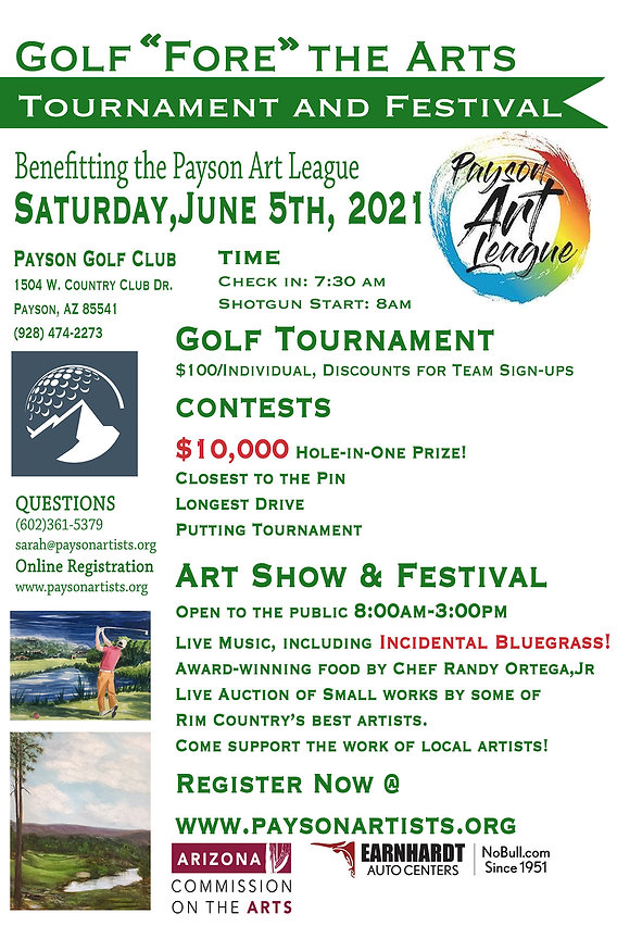 Payson Art League Golf Tournament Poster