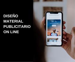Material publicitario on line