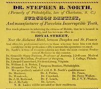1837 ad for surgeon dentist on royal btw