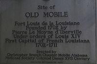 Historic Marker, Old Mobile, 1702.jpg